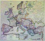 Európa 1915 (fóliázott falitérkép)