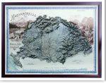 Nagy-Magyarország domború térképe 1899 (keretezett)