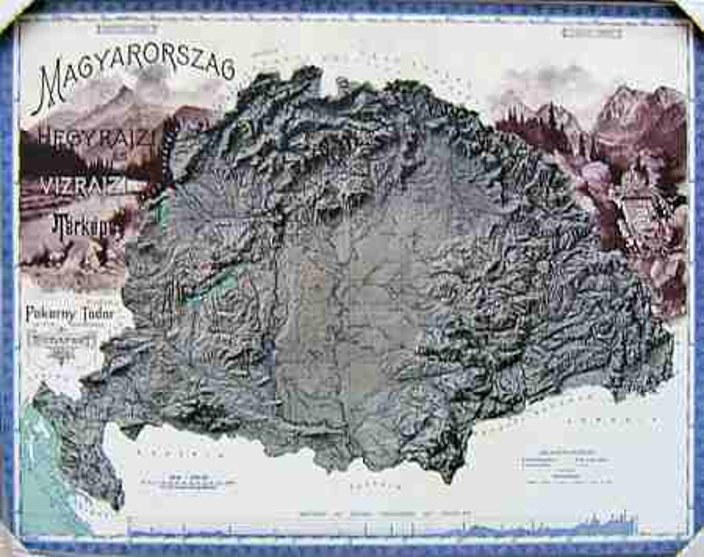 nagy magyarország domborzati térkép Nagy Magyarország domború térképe 1899 (keretezett)   A Lurdy Ház  nagy magyarország domborzati térkép