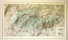 Mátra domború térkép (keretezett)