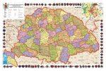 A Magyar Szent Korona Országai 1910 65*45 cm - fóliázott, keretezett
