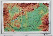 Magyarország domború térkép