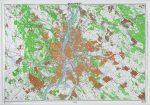 Budapest és környéke domború térkép (keretezett)