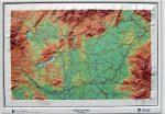 Magyarország domború térkép (keretezett)