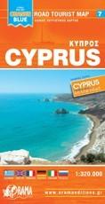 Ciprus - autóstérkép