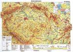 Csehország, domborzati + vaktérkép DUO (cseh) kétoldalas falitérkép 160*120 cm - léces