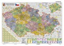 Csehország, politikai (cseh) -130*90 cm laminált,faléces