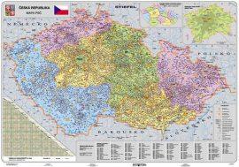 Csehország irányítószámos falitérképe 130*90 cm - lécezett