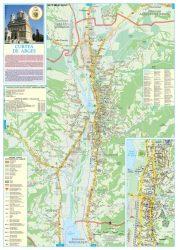 Curtea de Argeș - Argyasudvarhely város hajtogatott térképe