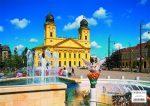Debrecen tányéralátét könyöklő + hátoldalán Debrecen várostérképe