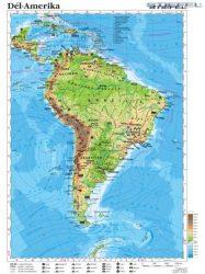 Dél-Amerika domborzata és gazdasága, 120*160 cm, laminált, faléces