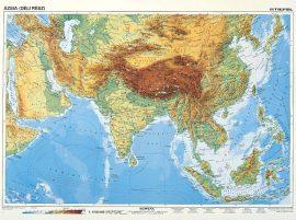 Dél-Ázsia, domborzati + politikaii DUO , 160*120 cm, laminált, faléces