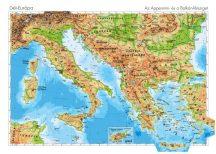 Dél-Európa domborzata -140*100 cm-laminált,faléces