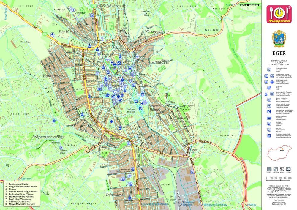 eger domborzati térkép Eger tányéralátét könyöklő   A Lurdy Ház Térképbolt,Tel:456 05 61  eger domborzati térkép