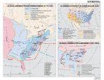 Az Egyesült Államok 1775-1865 között, 160*120 cm - laminált, faléces