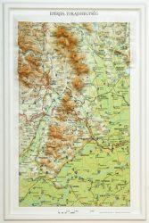 Eperjes- Tokaji-hegység dombortérképe