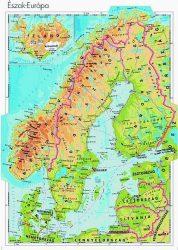Észak-Európa domborzata -120*160 cm-laminált,faléces
