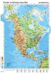 Észak- és Közép-Amerika domborzata és gazdasága, 120*160 cm, laminált, faléces