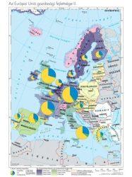 Az EU tagállamainak és társult országainak gazdasági fejlettségi különbségei, 100*140 cm, laminált, faléces