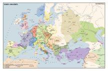 Európa 1000 körül,  160*120 cm - laminált, faléces