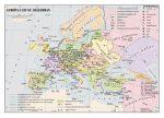 Európa a XIV-XV. században ,  160*120 cm - laminált, faléces