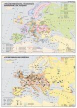Európa a XIX. században 120*160 cm - laminált, faléces