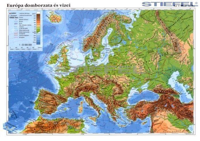 európa domborzati térkép Európa domborzata + Európai Unió fixi tanulói munkalap   A Lurdy  európa domborzati térkép