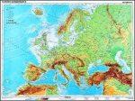 Európa, domborzati + vaktérkép DUO -160*120 cm-laminált,faléces