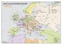 Európa az I. világháború előestéjén,  160*120 cm - laminált, faléces