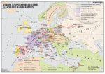 Európa a francia forradalom és a napóleoni háborúk idején,  160*120 cm - laminált, faléces