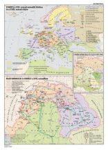Európa és Magyarország a XVII. sz. második felében,  140*100 cm - laminált, faléces