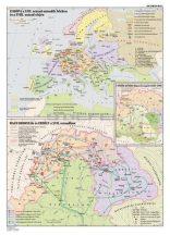 Európa és Magyarország a XVII. sz. második felében 100*140 cm - laminált, faléces