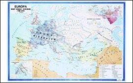 Európa Nagy Károly korában,  160*120 cm - laminált, faléces