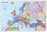 Európa országai falitérkép 100*70 cm - tűzdelhető keretezett