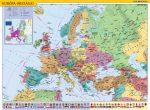 Európa országai és az Európai Unió falitérkép 100*70 cm - fémléces