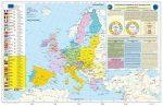 Az Európai Unió (angol nyelvű)-140*100 cm-laminált,faléces