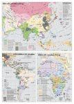 Az Európán kívüli földrészek a XIX. században,  120*160 cm - laminált, faléces