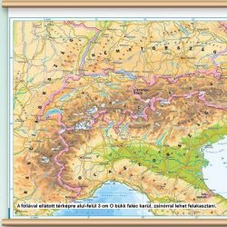 Bükk színű faléc fóliás térképekhez alul-felül - 100 cm (párban)