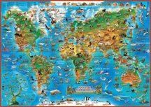 Földünk állatvilága + Dinók és őslények birodalma gyerektérkép - hajtott