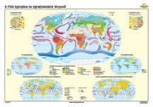 A Föld éghajlata, és éghajlat alakító tényezői iskolai falitérkép - egyoldalas - választható méret, nyelv - fóliás, alul-felül faléces