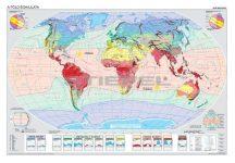 A Föld éghajlata - egyoldalas iskolai falitérkép - választható méret - fóliás, alul-felül faléces