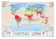 A Föld éghajlata / A Föld természetes növényzete - kétoldalas iskolai falitérkép 160*120 cm - fóliás, alul-felül faléces
