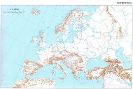 A Föld + Európa körvonalas munkatérképe DUO-160*120 cm-laminált, léces