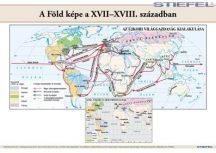 A Föld képe a XVII-XVIII. Században 140 x 100 cm - laminált, lécezett