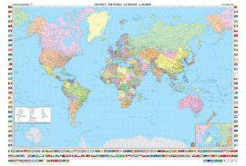 A Világ (The World) falitérkép 122*88 cm - íves papír