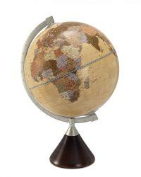 Földgömb - fatalpas, antik színű 33 cm átmérőjű - CORONELI