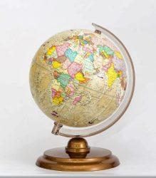 Földgömb 25 cm politikai antik színezés