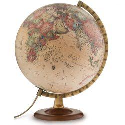 Földgömb - világító, antik 30 cm átmérőjű,fatalpas