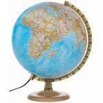 Földgömb - világító, politikai, 30 cm átmérőjű, fatalpas - National Geographic