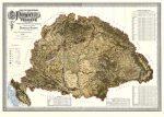 A Magyar Szent Korona országainak földmívelési térképe 116*82 cm - térképtűvel szúrható, keretezett